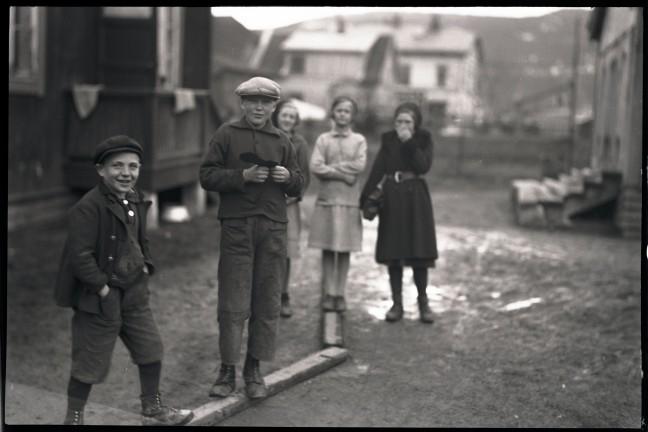 Barn i Drammen tidlig på 1930-tallet