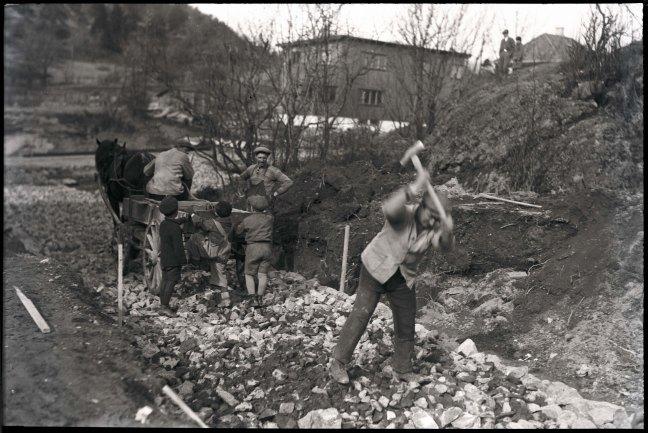 Veiarbeid Buskerud tidlig på 1930-tallet